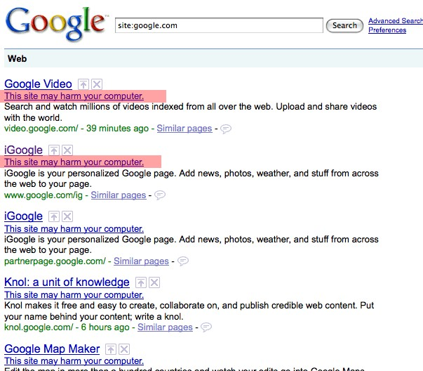 Problemas en Google