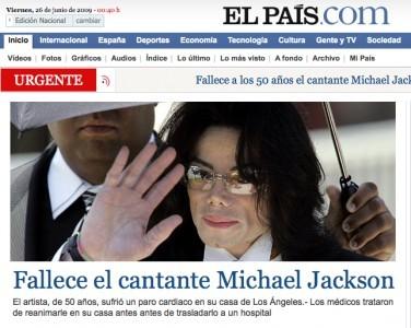 Michael Jackson muerto